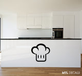 "Chef Hat Wall Decal / Kitchen Wall Sticker (20"" x 19"")"