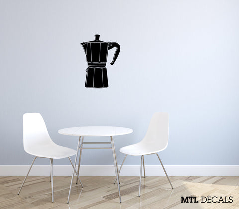 "Coffee Wall Decal (20"" x 26"") Kitchen Bialetti Wall Sticker"