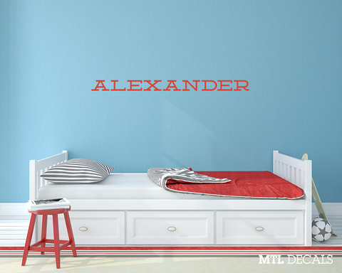 Name Wall Decal / Wall Sticker / Personalized Vinyl Wall Lettering / Custom