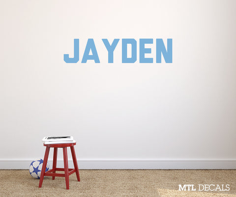 Name Wall Decal / Bedroom Wall Sticker / Personalized Vinyl Wall Lettering / Custom