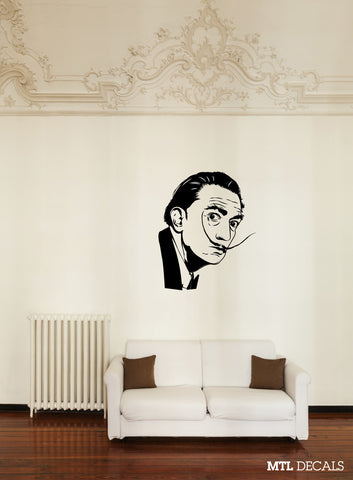 "Dali Wall Decal / Salvador Dali Wall Sticker Home Decor (36"" x 43.77"")"