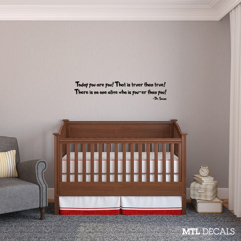 "Dr Seuss Wall Decal Wall Quote Sticker (36"" x 7.3"")"