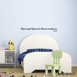 "Dr Seuss Wall Decal Wall Quote Sticker (36"" x 3.44"")"