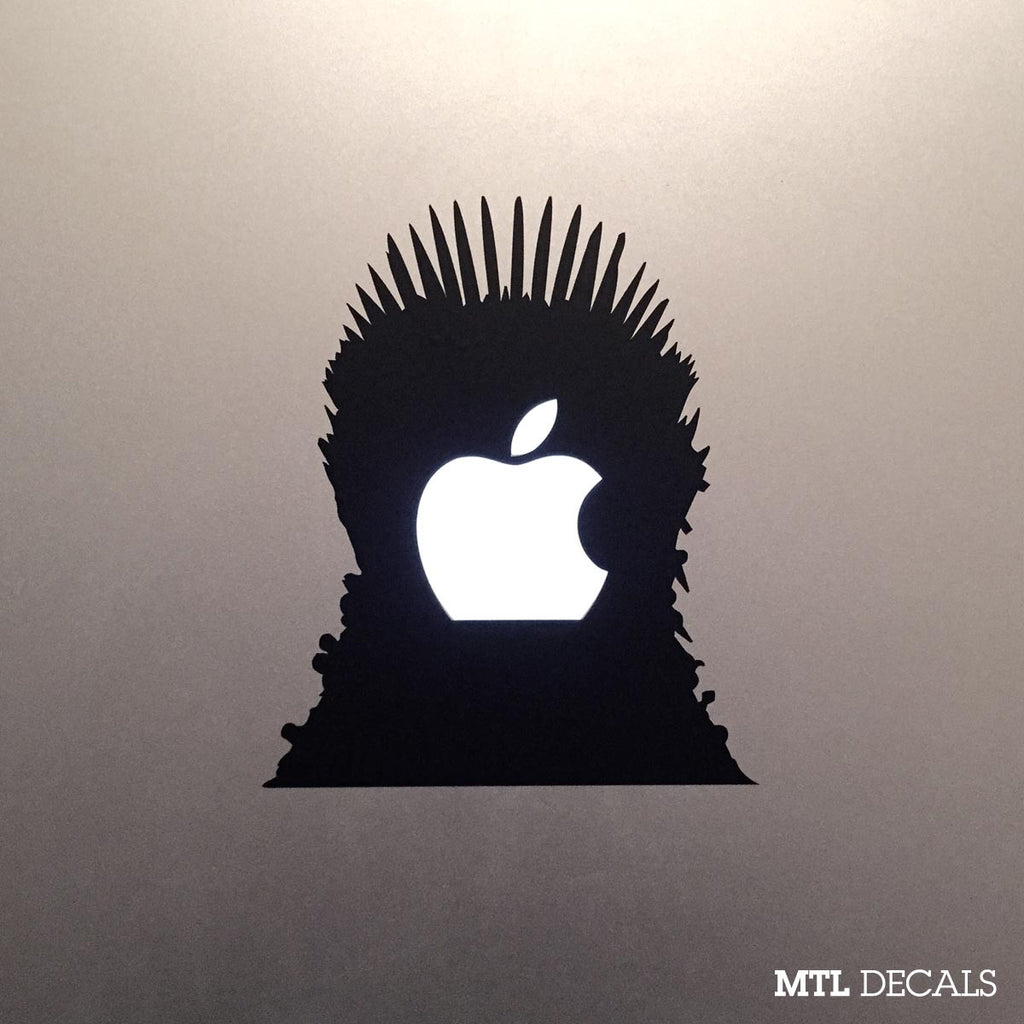 Game of Thrones Macbook Decal / The Iron Throne Macbook Pro Sticker
