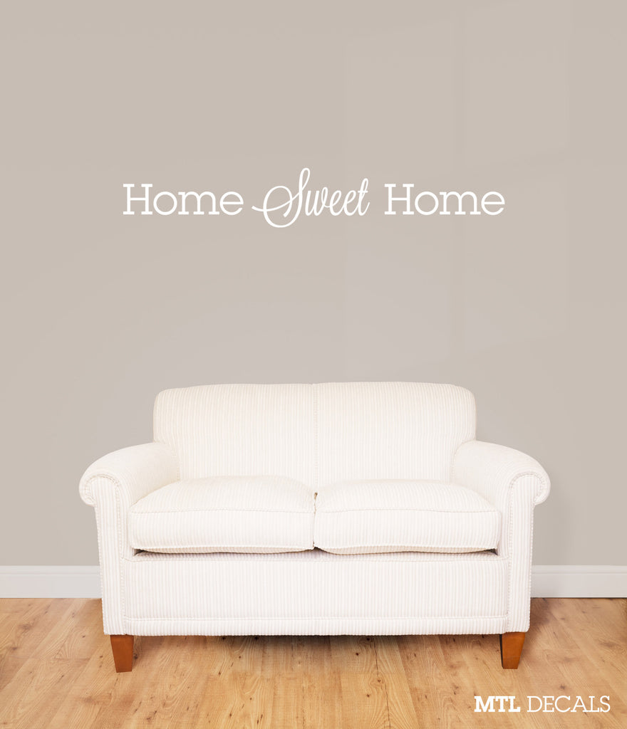 "Home Sweet Home Wall Decal / Wall Quote Sticker (40"" x 6.26"")"
