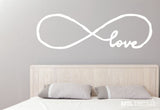 Infinity Love Wall Decal / Bedroom Wall Sticker