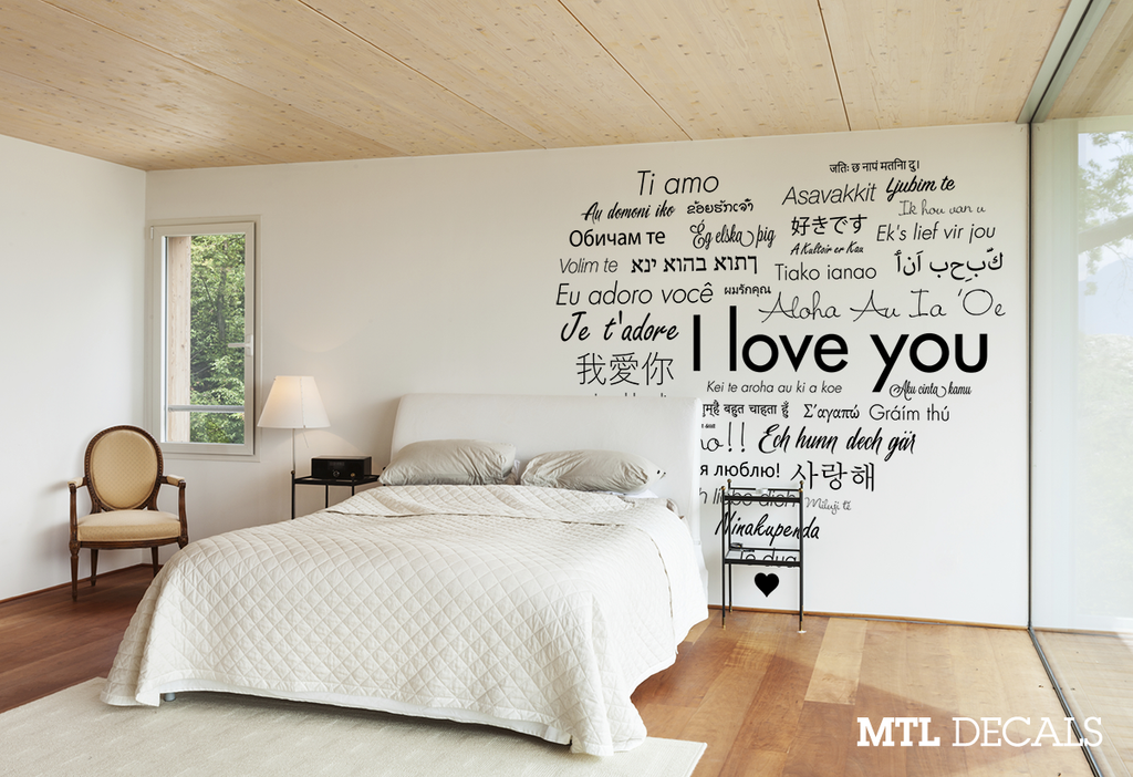 I love you Wall Decal Sticker Home Decor Wall Art International MTL Decals