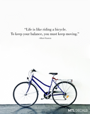 Life is like... Wall Decal / Einstein Quote Wall Sticker / Bicycle / Cycling / Wall Decoration