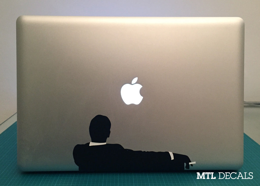 "Mad Men Inspired Macbook Decal / Macbook Pro Sticker (8.17"" x 3.89"")"