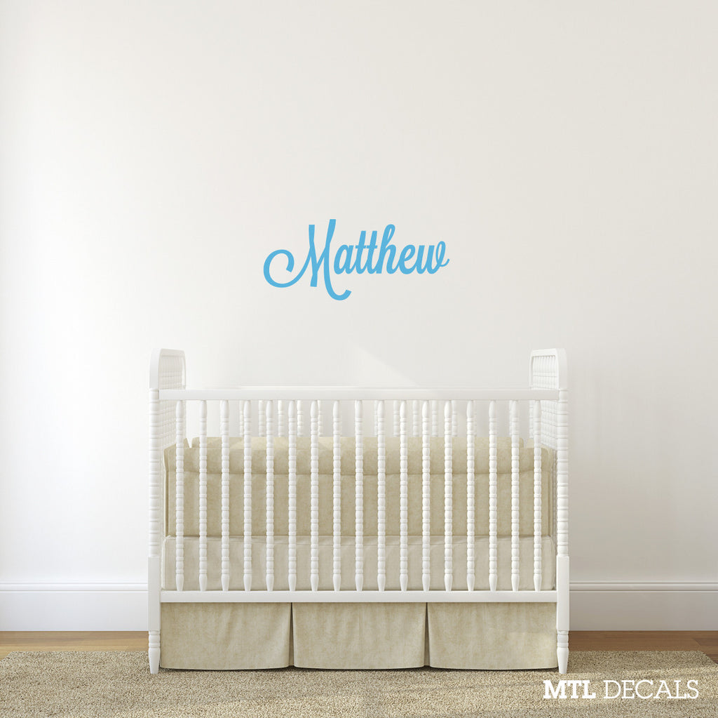 Name Wall Decal / Nursery Wall Sticker / Personalized Vinyl Wall Lettering / Custom