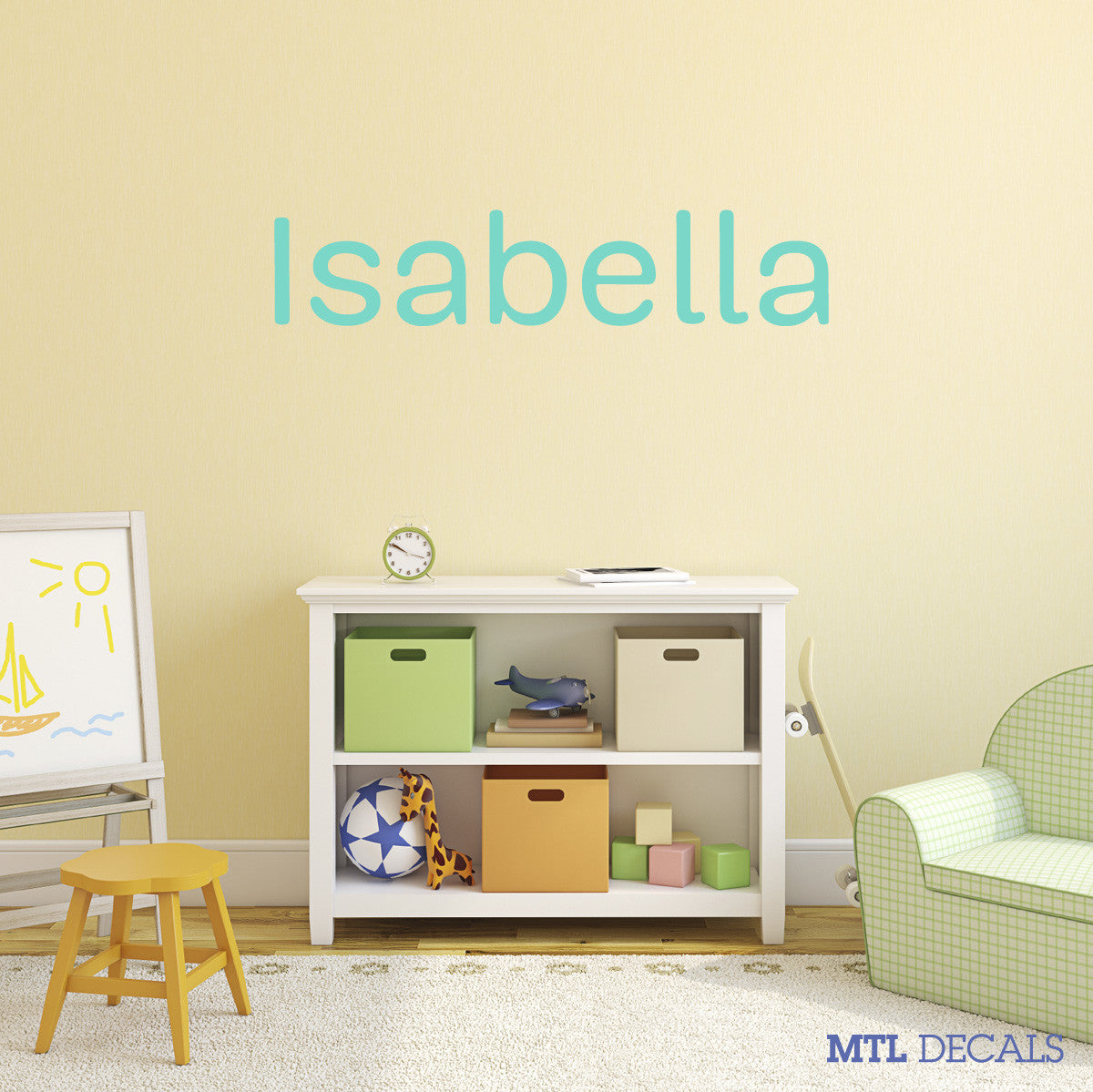 Custom Name Wall Decal / Bedroom Wall Sticker / Personalized Vinyl Wall  Lettering
