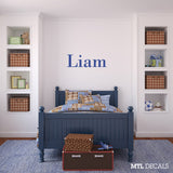 Name wall decals, kids room ideas