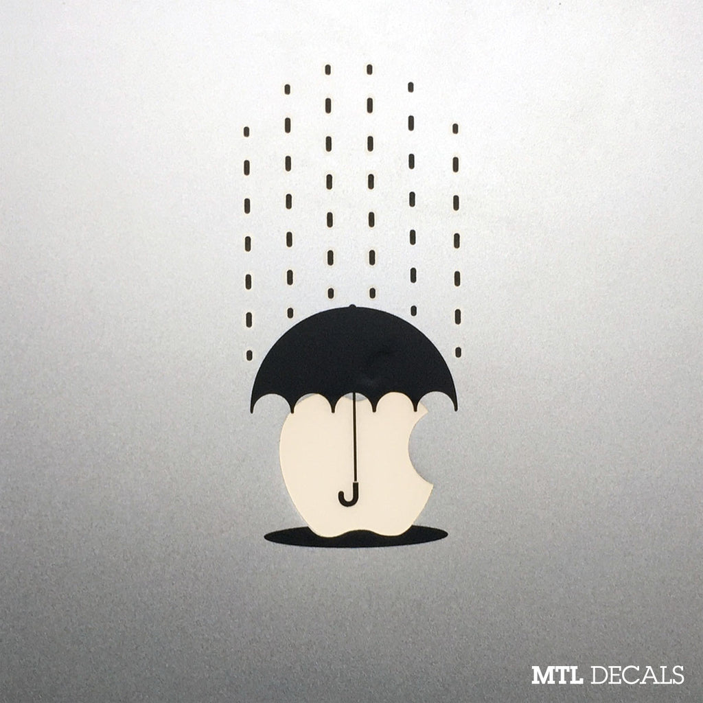 Umbrella Macbook Decal / Rain Macbook Pro Sticker