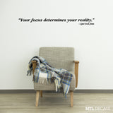 "Star Wars ""Your Focus"" Wall Decal / Qui-Gon Jinn Wall Quote Sticker (46"" x 4"")"