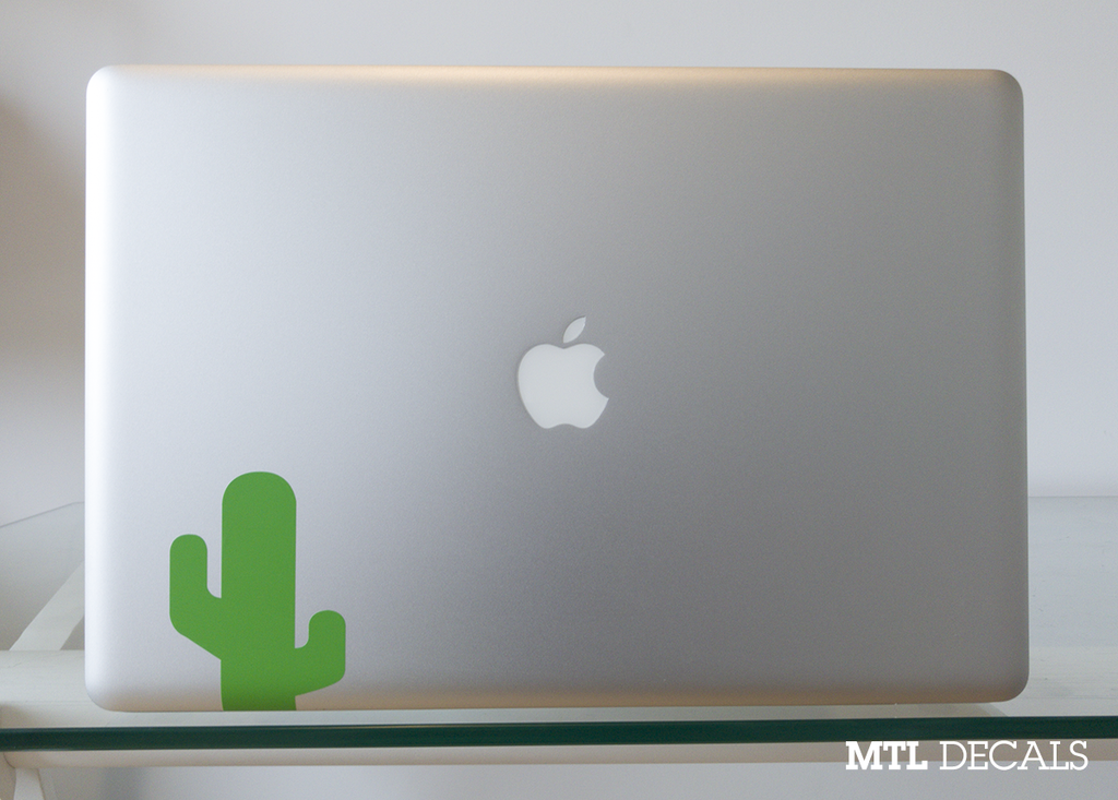 "Cactus Laptop Decal / Cactus Emoji Laptop Vinyl Sticker / Gift Idea / Plant Lovers (2.8"" x 4"")"