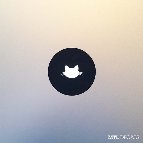Cat Macbook Decal / Kitty Macbook Pro Sticker