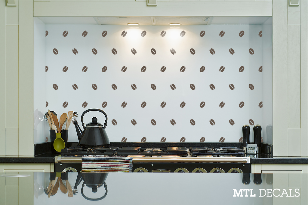 coffee beans wall decal / wall vinyl sticker / kitchen wall decor
