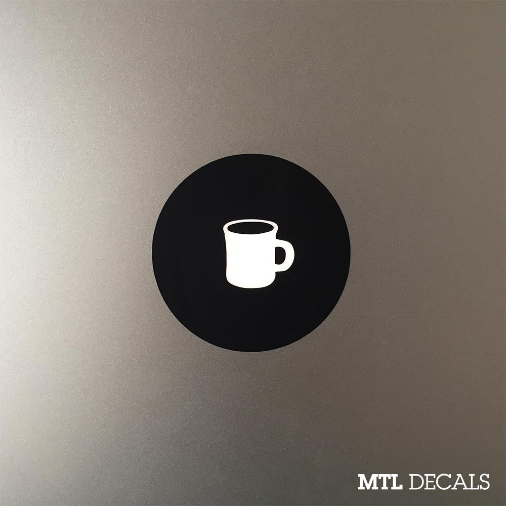 Coffee Mug Macbook Decal / Coffee Love Macbook Pro Sticker
