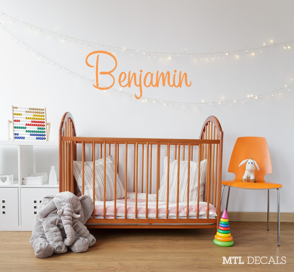 Custom Name wall decals, DIY room decor