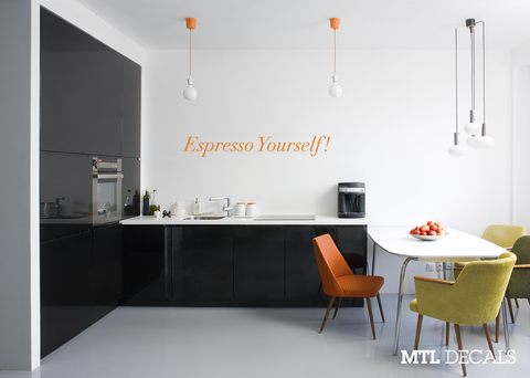 Espresso Yourself Wall Decal / Kitchen Decoration / Coffee Wall Sticker