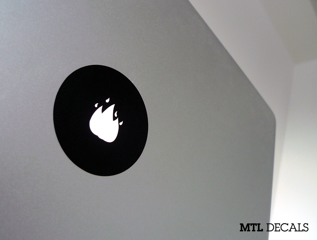 Fire Macbook Decal / Fire Emoji Macbook Pro Sticker