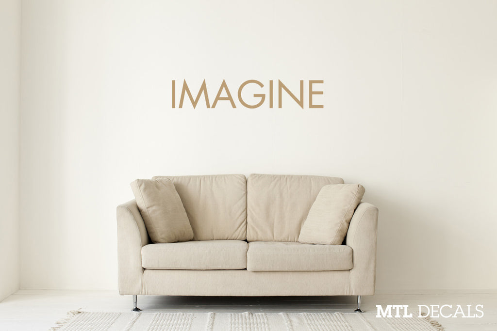 IMAGINE Wall Decal / Lennon Wall Sticker / Home Decor