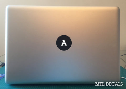 Custom Macbook Monogram Decal / Macbook Pro Sticker / 2