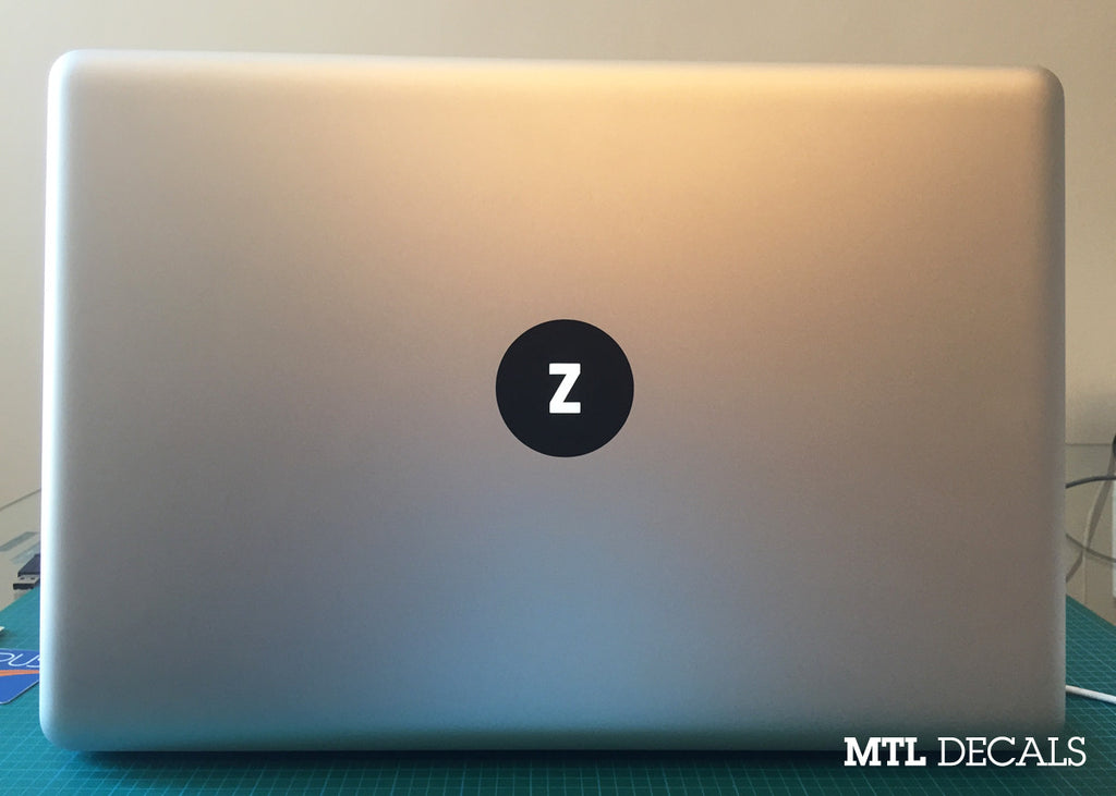 Custom Macbook Monogram Decal / Macbook Pro Sticker / 5