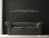 Imperfection is beauty.. Wall Decal / Marilyn Monroe Quote Wall Sticker / Wall Decoration / Bedroom Decor / Living Room