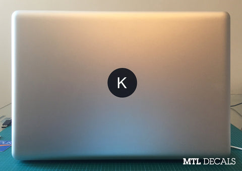 Custom Macbook Monogram Decal / Macbook Pro Sticker / 4