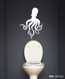 "Octopus Wall Decal / Sea Life Wall Sticker (20"" x 26"")"