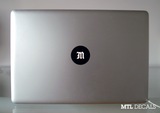 Custom Macbook Monogram Decal / Macbook Pro Sticker / 6