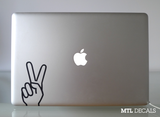 "Peace Macbook Decal / Peace Hand Laptop Sticker (5"" x 2.8"")"