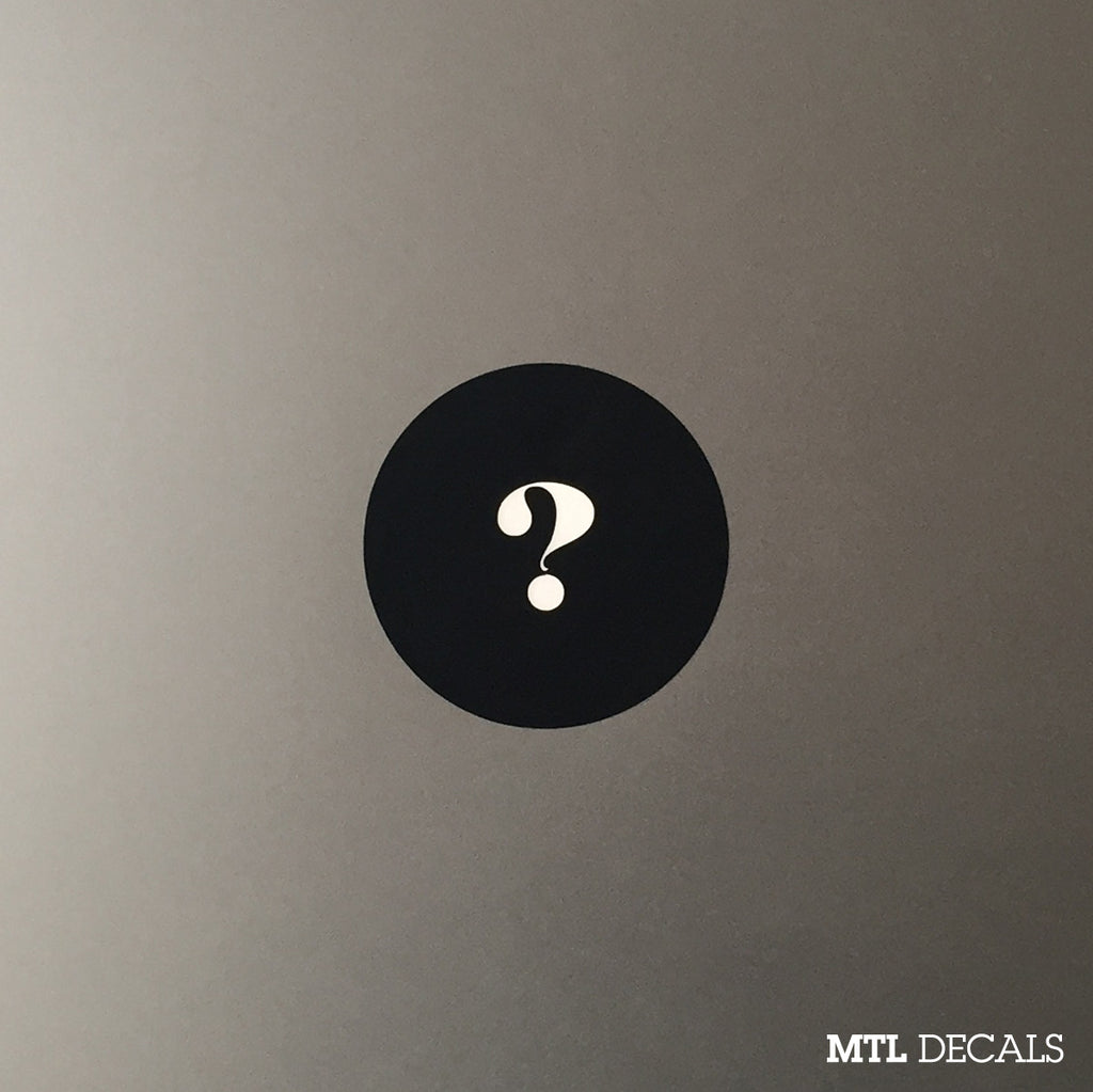 Question Mark Macbook Decal / ? Macbook Pro Sticker