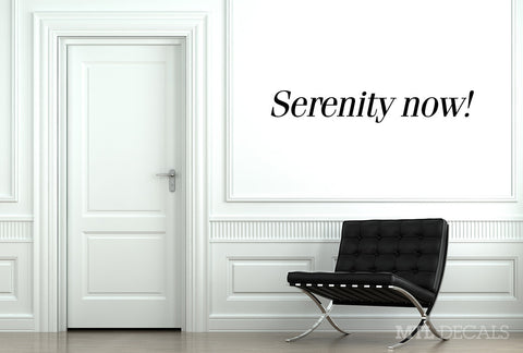 Serenity now! Wall Decal / Seinfeld Wall Vinyl Sticker / Home Decor / Wall Quote