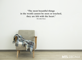 The Little Prince Wall Decal Quote / Beautiful Things Wall Sticker / Antoine de Saint-Exupéry