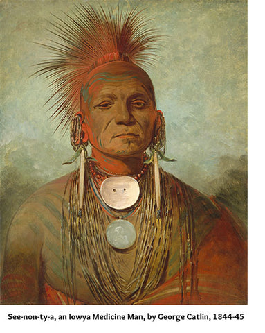 See-non-ty-a, an Iowya Medicine Man, by George Catlin, 1844-45