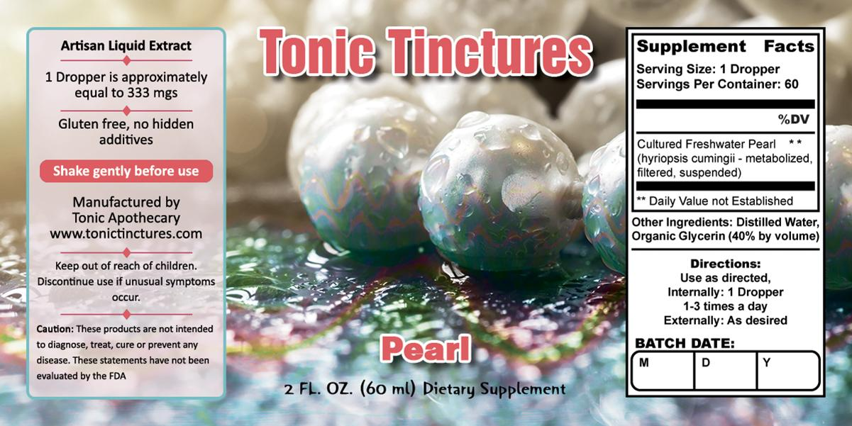 Tonic Tinctures  Pearl Supplement Label