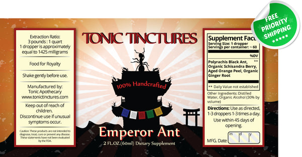 Polyrachis Black Ant Liquid Extract Tincture Supplement Label