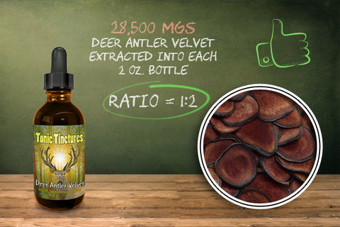 Tonic Tinctures Deer Antler Velvet Comparison