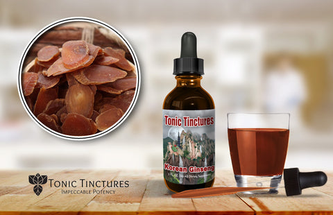 Tonic Tinctures Korean Ginseng Fresh Batch