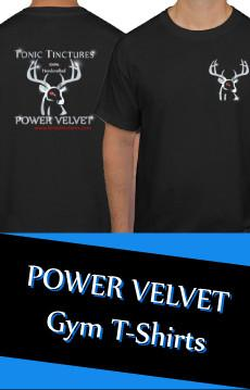 Power Velvet Gym T-Shirt by Tonic Tinctures