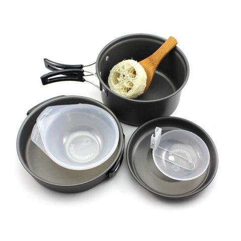 8 Piece Bowl Pot Pan Combo