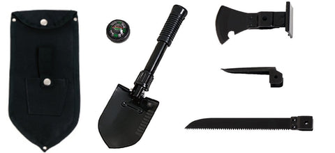 Multi-Purpose 5-in-one Survival Shovel