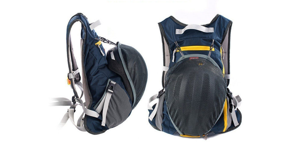 Outdoor cycling backpack with helmet bag