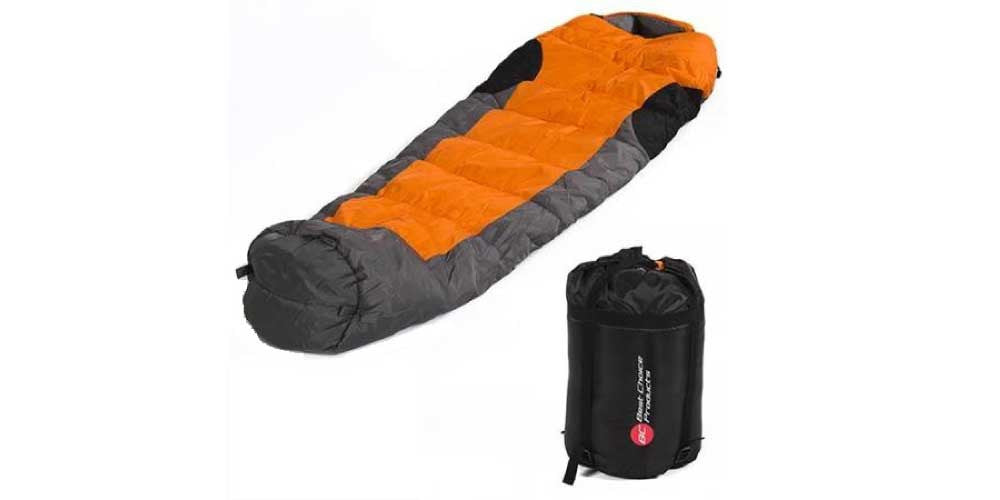 Outdoor and camping mummy sleeping bag