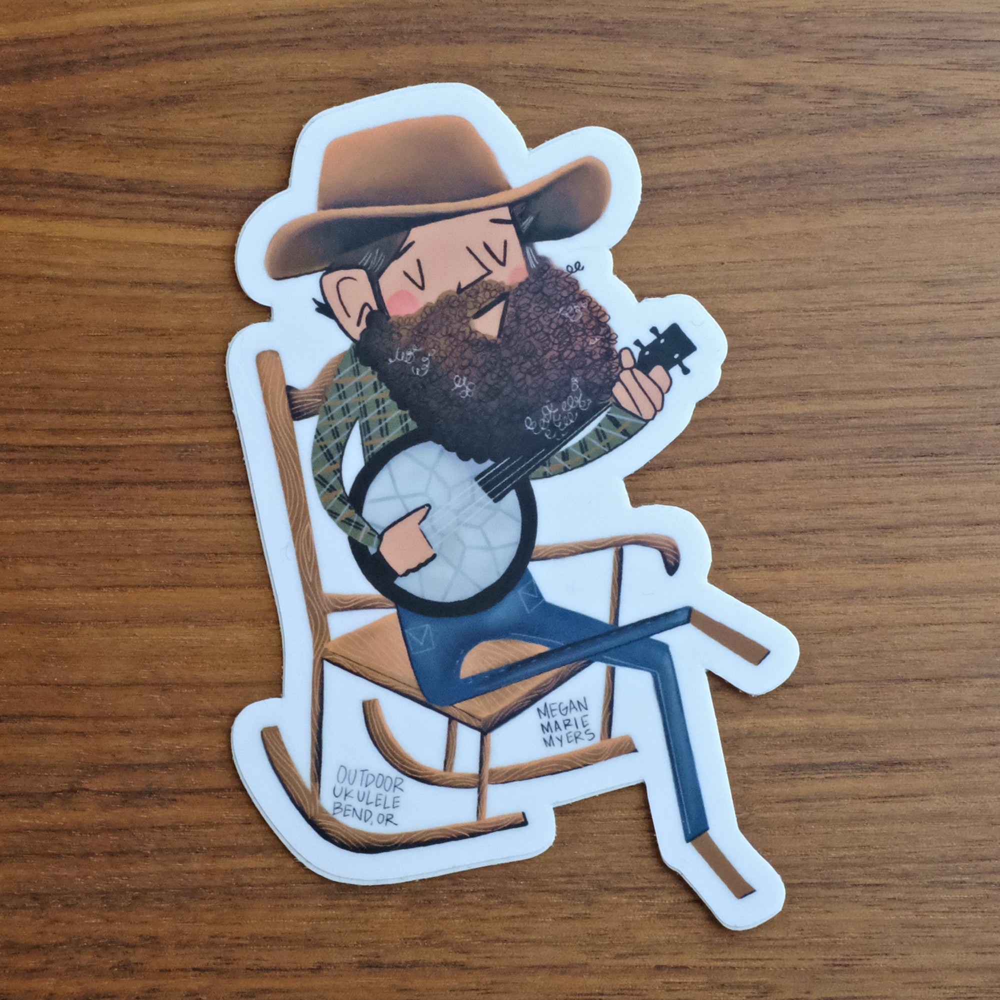 Banjolele Man Sticker