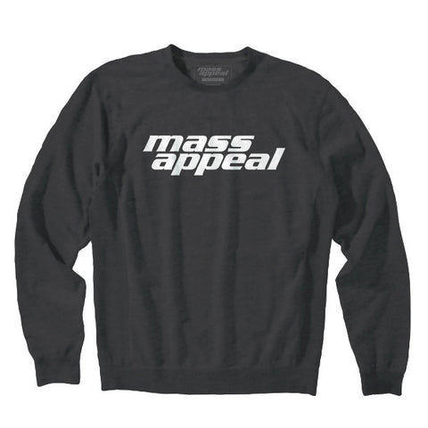 Mass Appeal Logo Crew Neck Fleece (Black)