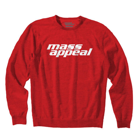 Mass Appeal Logo Crew Neck Fleece (Red)