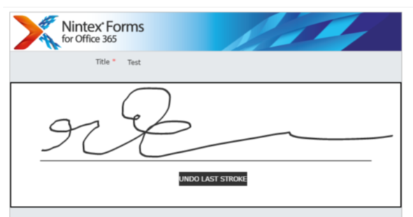 Nintex Forms Digital Signature Pad using jQuery and jSignature